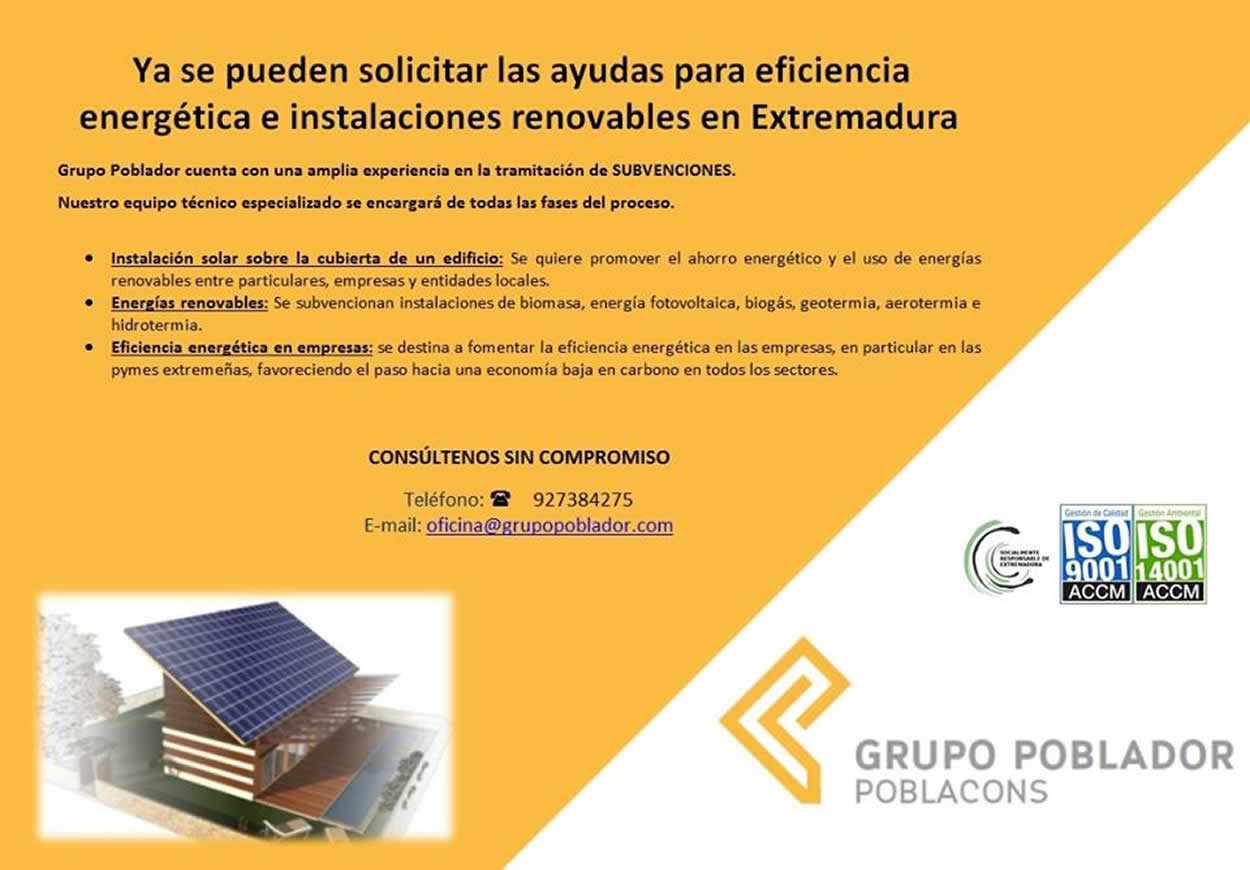 Ayudas a la eficiencia Energética